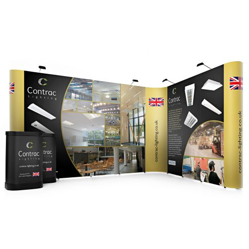 L-Shaped Linked Pop Up Stand 3m x 4m