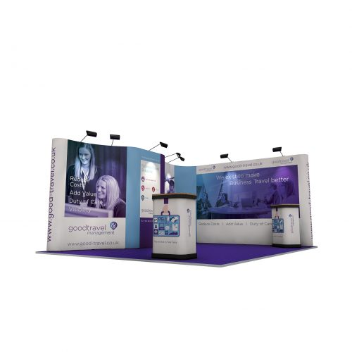 5m x 4m Linked Pop Up Exhibition Stand