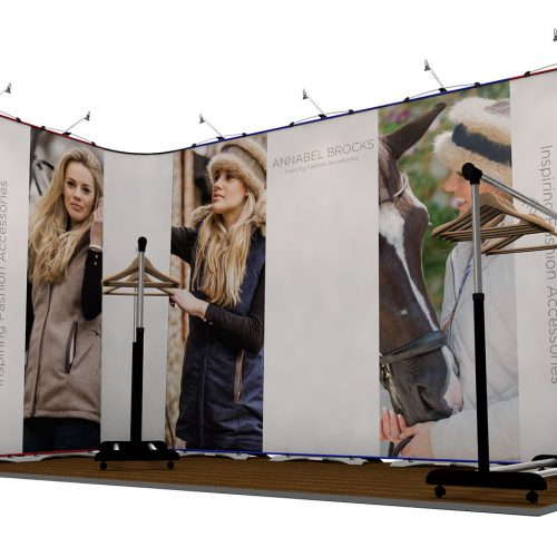 Twist Flexible Display Stand 5m x 3m L-Shaped