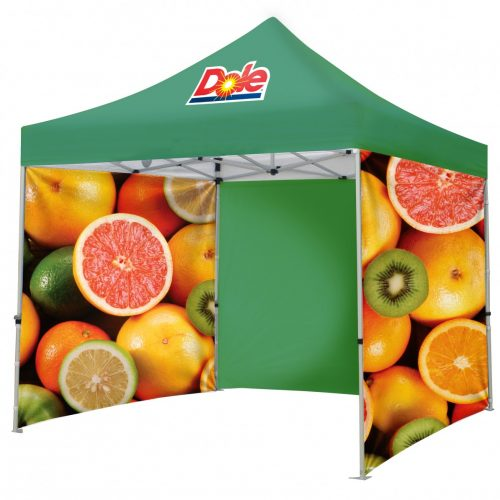 Branded Gazebo with Printed Back Wall and 2 Full Side Walls