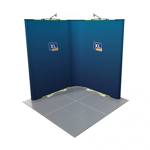 Twist Flexible Display Stand 2m x 2m with Curved End Caps