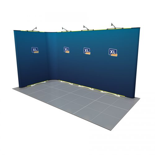 Twist Flexible Exhibition Stand 4m x 2m L-Shaped
