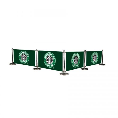 Cafe Barrier System Deluxe 4 Banners