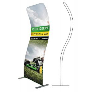 Formulate Curl Fabric Display Stands