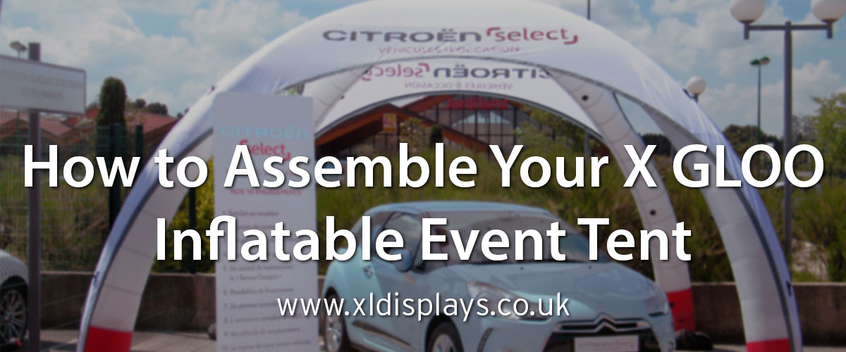 How to Assemble Your X GLOO Inflatable Event Tent