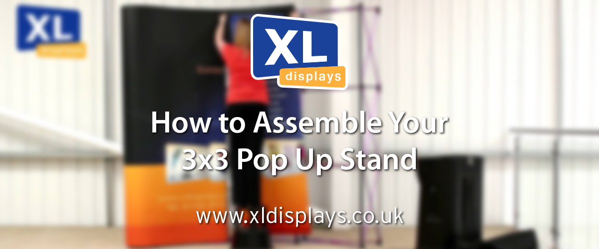 Exhibition Stand Pop Up : How to assemble a 3x3 pop up exhibition stand xl displays